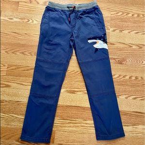Mini Boden shark appliqué pants 9Y